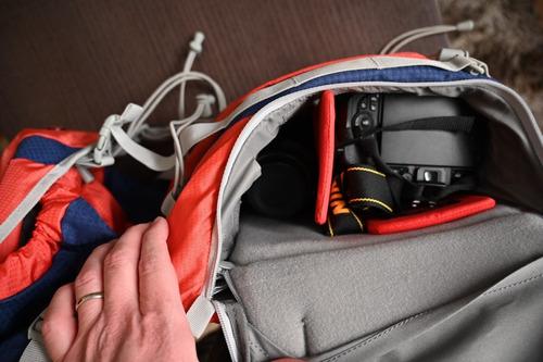 cámara fotográfica mochila para