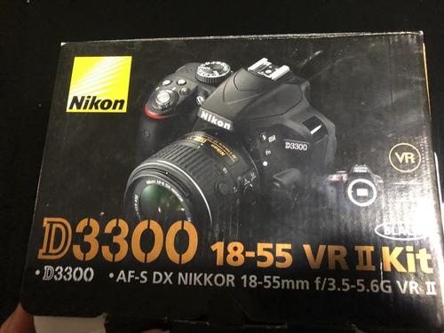 camara fotografica nikon d3300, 18-55 vr ii kit, full acceso
