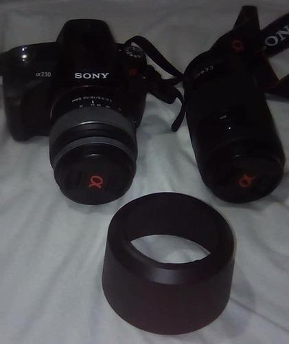 camara fotografica prof sony alpha 230 y lente adicional