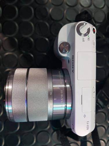 cámara fotográfica profesional sony nex-f3 con 2 lentes