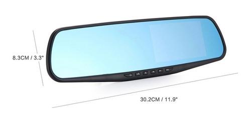 cámara frontal espejo retrovisor full hd con pantalla