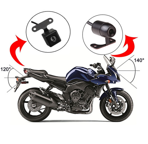 cámara frontal y reversa motocicleta dvr display tiempo real