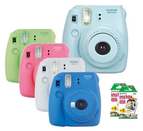 cámara fuji instax mini 9 fujifilm + caja x 20 films