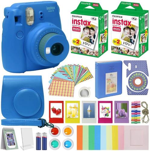 camara fujifilm instax mini 9 kit completo accesorios estuch