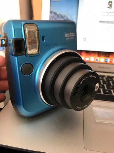 camara fujifilm mini 70 azul + cartucho (20 fotos)