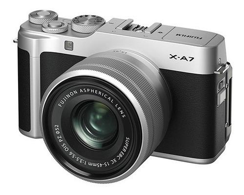 cámara fujifilm x-a7 silver con lente xc 15-45mm silver