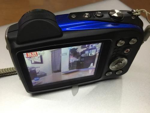 camara  fujifilm xp60 16mp zoom optico 5x sumergible azul