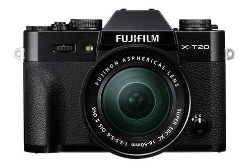 cámara fujifilm xt20 black + lente xc16-50mm (12758)