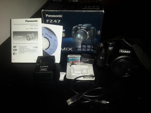 cámara gama alta panasonic fz47 con zoom 24x
