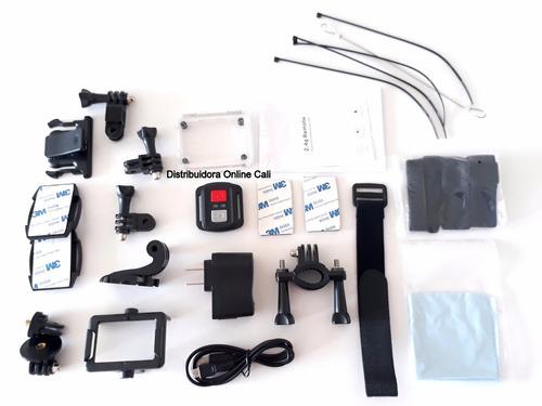 camara go pro 4k real wifi + control cámara para moto casco