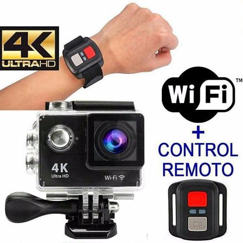 camara go pro 4k wifi + control + accesorios + monopod