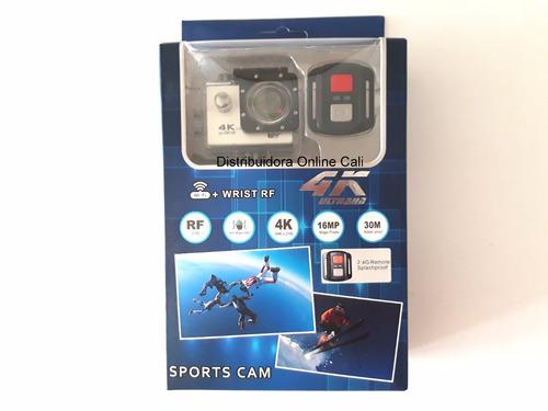 camara go pro 4k wifi + control cámara para moto casco