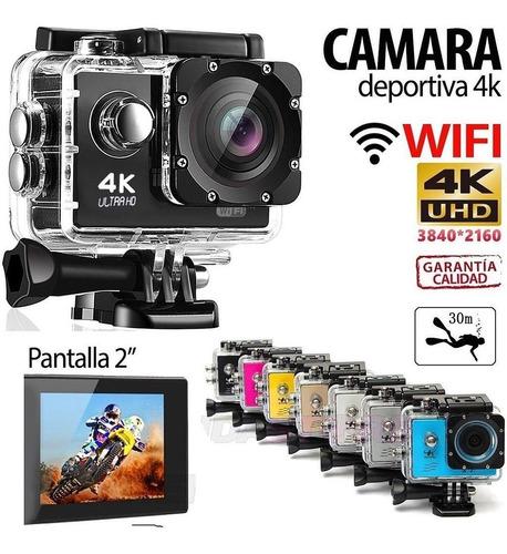 camara go pro acción 4k 16 mp wifi acuatico deportes videos