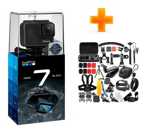 camara go pro gopro hero 7 black + kit accesorios 50 en 1