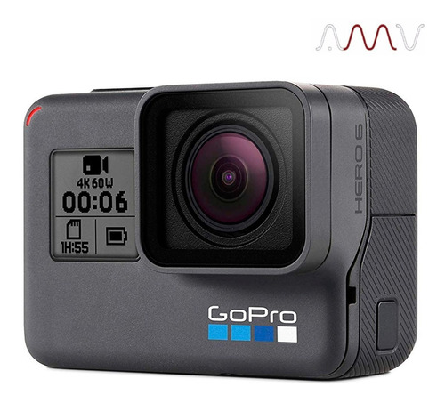 cámara go pro hero 6 black 12 mp 4k 2  táctil sumergible amv