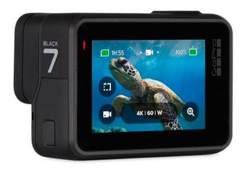 cámara go pro hero 7 black chdhx-701 sumergible 12mp 4k pce