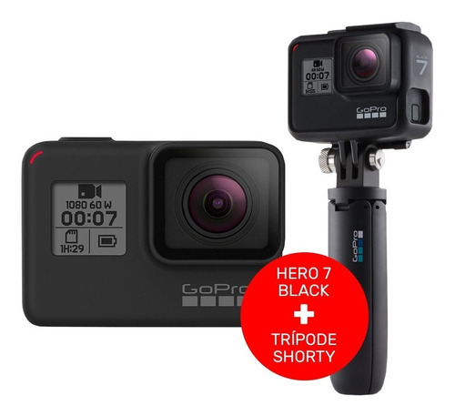 cámara go pro hero 7 black garantia of + tripode shorty ce