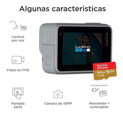 cámara go pro hero 7 white + memoria extreme sandisk 64gb c