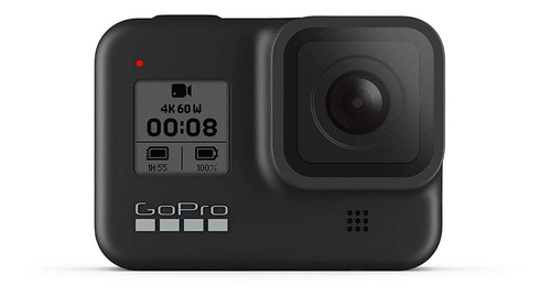 cámara go pro hero 8 black 4k 12mpx hdr sumergible 10m pc rt