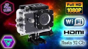 camara go pro sumergible en el agua wi-fi hd 12 mp 4k