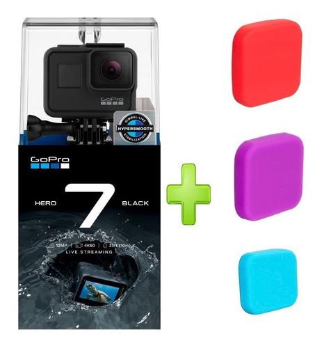 camara gopro go pro hero 7 black + 1 silicona para lente