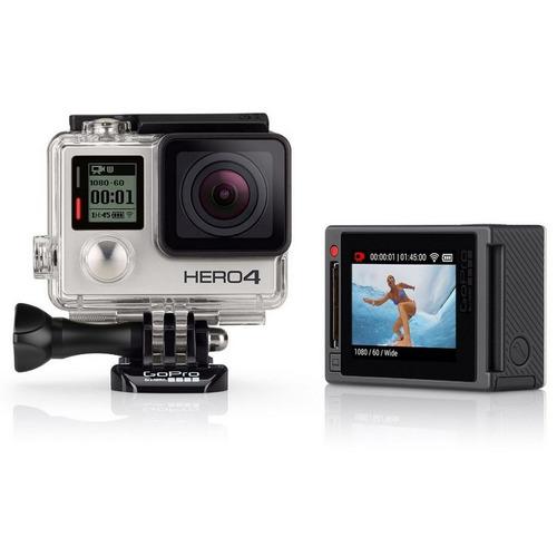 cámara gopro hero 4 silver wi-fi, bluetooth, sumergible 40m