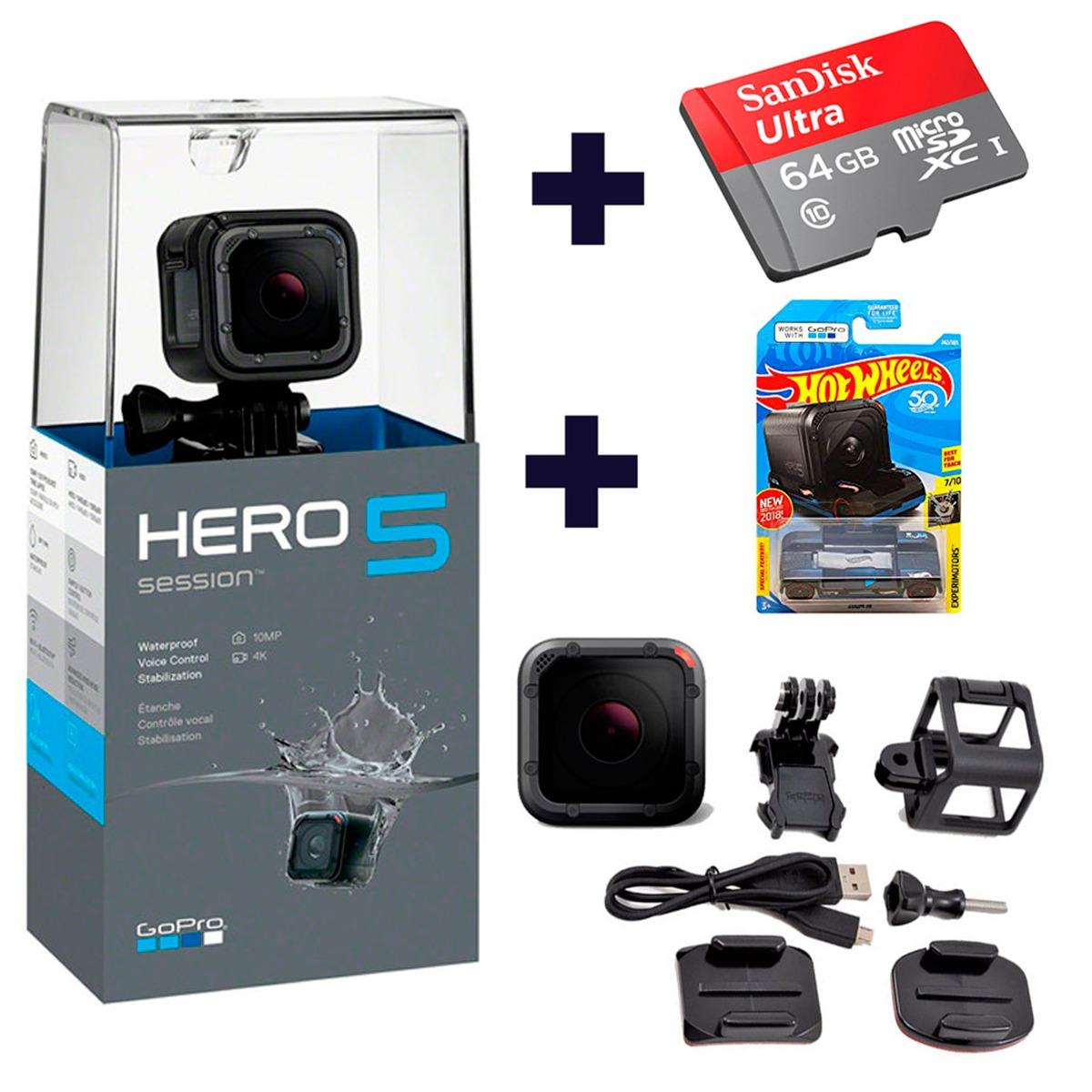 Camara Gopro Hero 5 60fps 1080p, 4k, Mem  64gb Y Hot Wheels