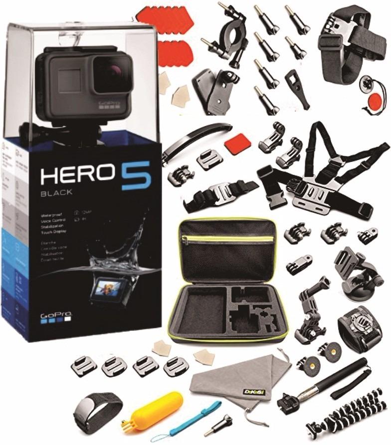 0d696bb403188 camara gopro hero 5 black sumergible 4k con 55 accesorios. Cargando zoom.