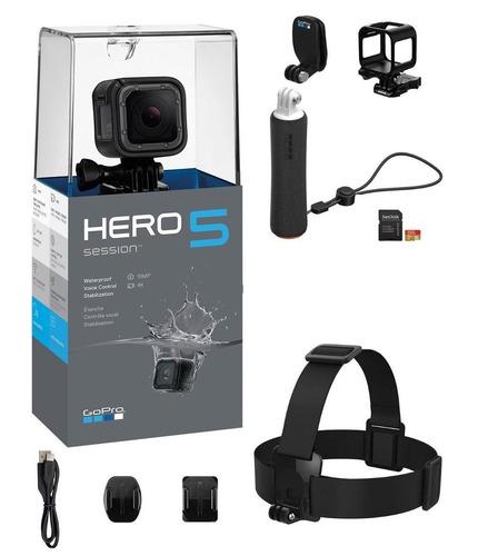 camara gopro hero 5 session full black wifi 4k + acc oficial