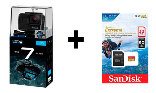 cámara gopro hero 7 black +tarjeta sandisk extreme 32 gb