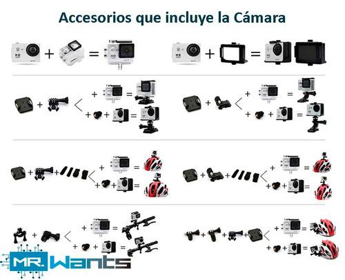 cámara h9 4k wifi ultrahd gopro microsd 16gb gratis