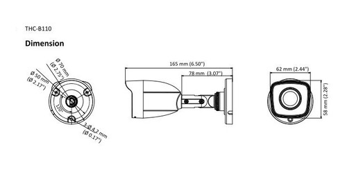 cámara hd 1mp hilook thc-b110-m metal tvi-cvi-ahd-analoga