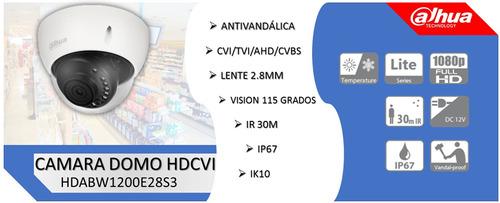 camara hdcvi domo dahua 1080p 2mp exterior hdabw1200e28s3