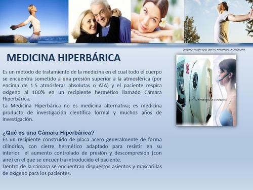 camara hiperbarica - precio por sesion