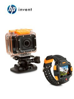 cámara hp action cam ac300w, 32gb, 16 mp, full hd, wifi, man