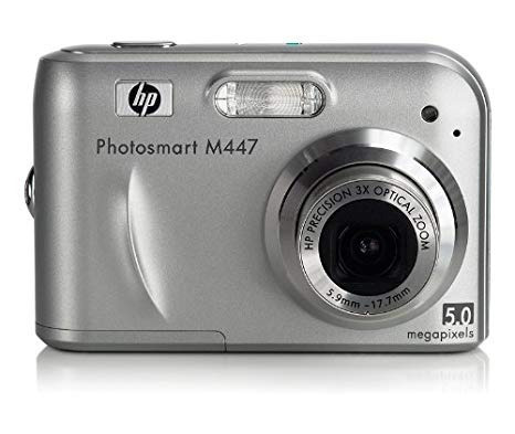 camara hp  photosmart m 5.0 megapixels 30 verdes