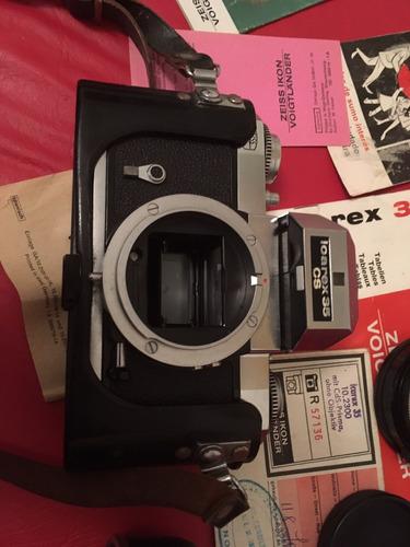 camara icarex zeiss ikon + voigtlander + filtros y lente 35m
