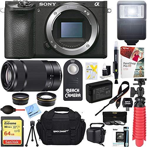 cámara ilce-6500 a6500 4k sin espejo de sony con lente de zo