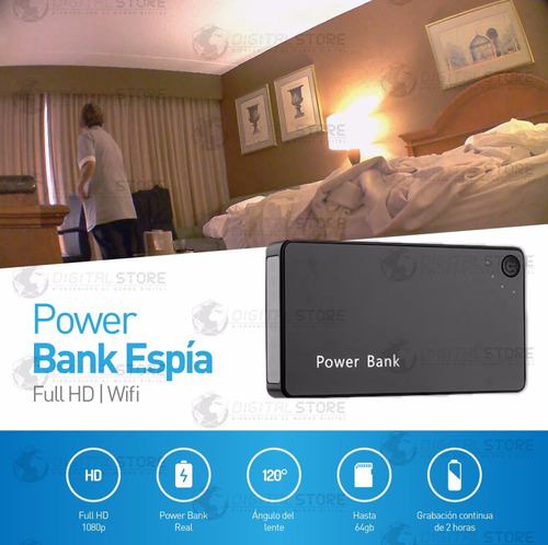 camara inalambrica ip wifi seguridad espia power bank ful hd