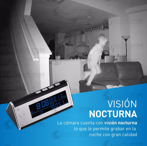 camara inalambrica ip wifi seguridad espia reloj full hd p2p