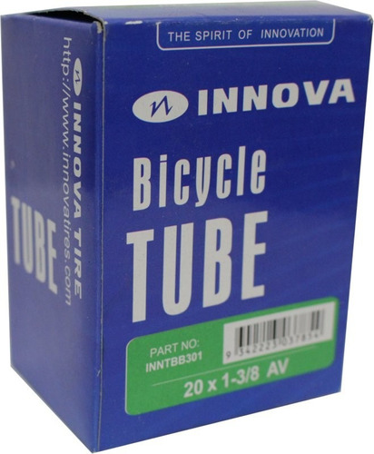camara innova 20 x 1 3/8 valvula presta - racer bikes