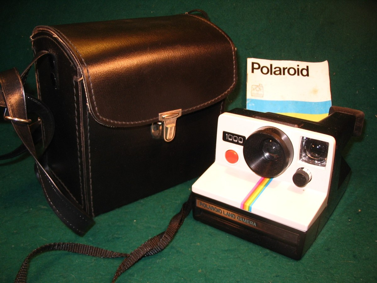 14cb6b266c335 Cámara Instantánea Polaroid Land 1000 Inglesa Con Manual -   800