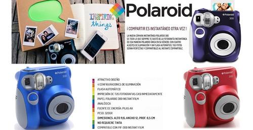 camara instantanea polaroid pic300