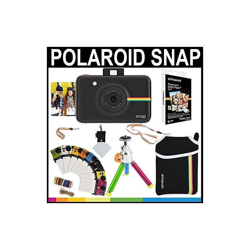 f18095f514806 cámara instantánea polaroid snap (negro) papel 2x3 zink (paq. Cargando zoom.