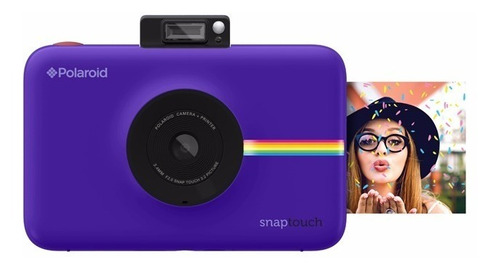 cámara instantánea polaroid snap touch purple - dist. aut.