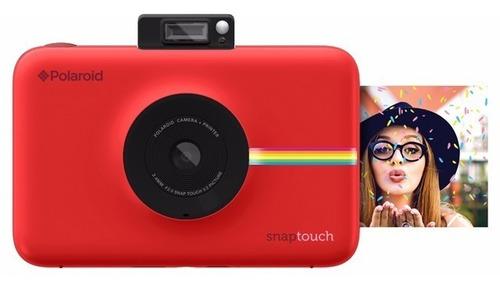cámara instantánea polaroid snap touch red - dist. aut.