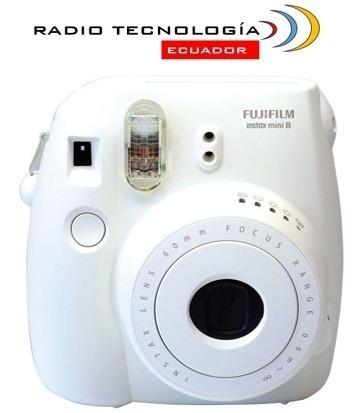 cámara instax mini 8 fujifilm blanca