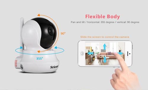 camara inteligente 360 grados wifi detector sricam sp020