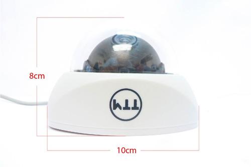 camara interior domo ccd 1/3 sharp lente 3.6mm 480tv audio