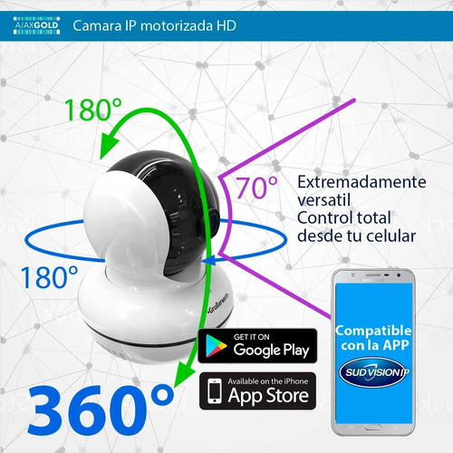 camara ip 1080p full hd motorizado p2p wifi led array 360